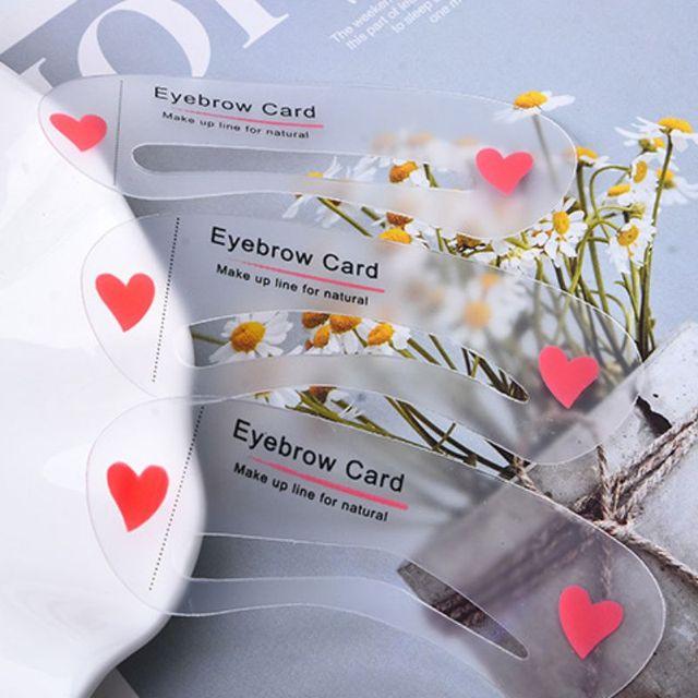Easy to Use 3Pcs/set Thrush Card Threading Word Eyebrow Makeup Tools Threading Artifact Thrush Card Eyebrows Mold 4