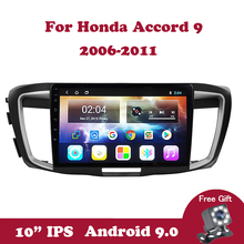 Android 9.0 IPS Screen 10.1 Inch Autoradio Video Player for Honda Accord 9 2006-2011 Car GPS Navigation Car Radio Multimedia DVD