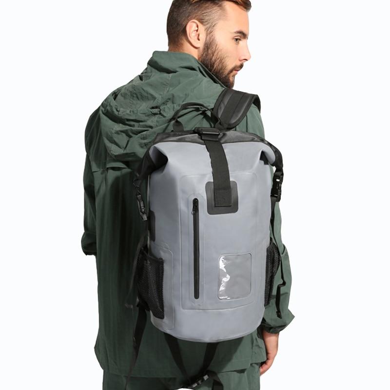 Водоотталкивающий мешок 30 л, водонепроницаемая сумка для сухой езды на мотоцикле, уличный рюкзак для лодки, плота