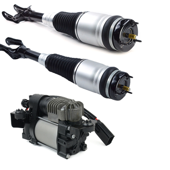Pair Front Left  & Right Air Suspension Shock Absorber + Compressor Pump for Jeep Grand Cherokee  2011-2016