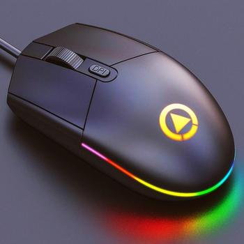 цена на 4D USB Mouse Wired Gaming Mouse Optical Mice 1600 DPI Computer Mouse with LED backlit Compatible with Laptop PC Desktop Computer