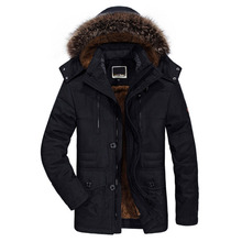 Новинка, хлопковая зимняя куртка с капюшоном, мужская, теплая, 6XL, длинная парка, куртки с капюшоном, мужские пальто, повседневные, с мехом, пуховики, мужские, s MP012