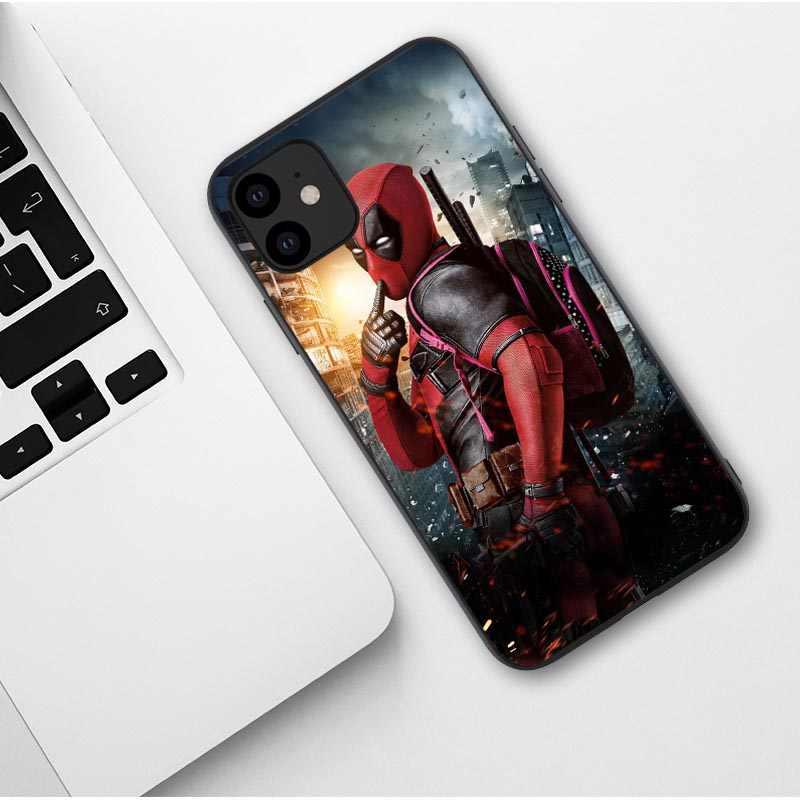 מקרה טלפון עבור iPhone 11 פרו 5.8 2019 מארוול ארס ספיידרמן איש ברזל Deadpool רך כיסוי עבור iPhone 11 פרו מקסימום 6.1 6.5 אינץ