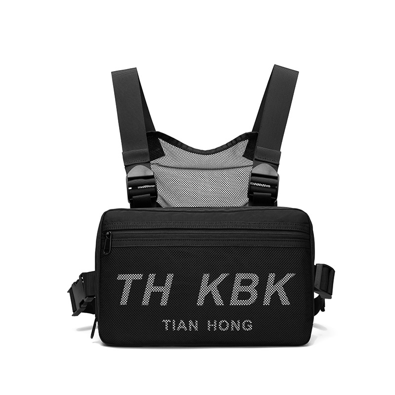 Korean-style Chest Pack For Both Men And Women Oxford Cloth Waterproof Bag Multi-functional Chest Shoulder Bag Women's Large Men