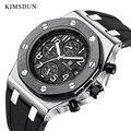 KIMSDUN Top Luxus Marke Mens Quarz Timing Multifunktions Uhr AP Royal Oak Klassische Stil Silikon Gummi Uhr Armbanduhr 2020