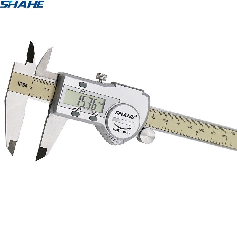 Shahe digital vernier caliper calibre paquimetro eletrônico digital paquimetro digital 150 mm ferramenta de medição