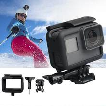 Yiwa Plastic Frame Case for Gopro Hero 5/6/7 Black Camera Vertical Protection Sports Camera Portable Standard Cover r30(China)
