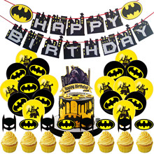Super Hero Theme Birthday Party Supplies Banner Latex Balloons Cupcake Topper Cool Party Set For Boys Birthday Party Decorations