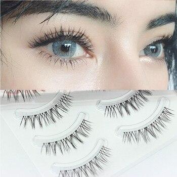 YOKPN Natural Sharpen False Eyelashes Cross-messy Thick Simulation Makeup Fake Eyelashes Imitation Grafting Effect Bride Lashes 1
