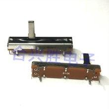 Sc3021n mono 45mm único potenciômetro deslizante b10k misturador fader em linha reta 3 pés lidar com 15mm de comprimento