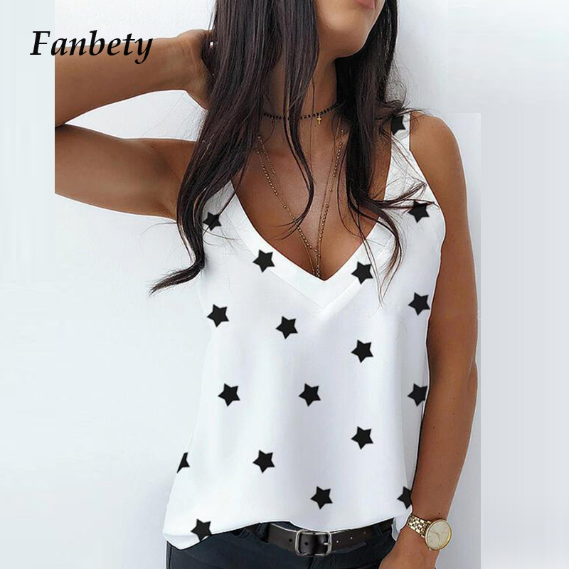 2020 Summer Sexy V Neck Sleeveless Blouse Shirt Women Elegant Solid Loose Hollow Out Tops New Lady Off Shoulder plus size blusa Blouses & Shirts  - AliExpress