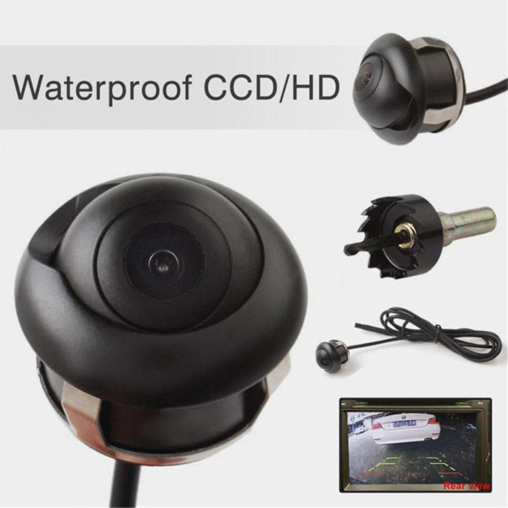 NEW 360 Degree HD CCD Car Rear View Reverse Night Vision Backup Parking Camera IP67 Waterproof Wired Vehicle Camera High Quality