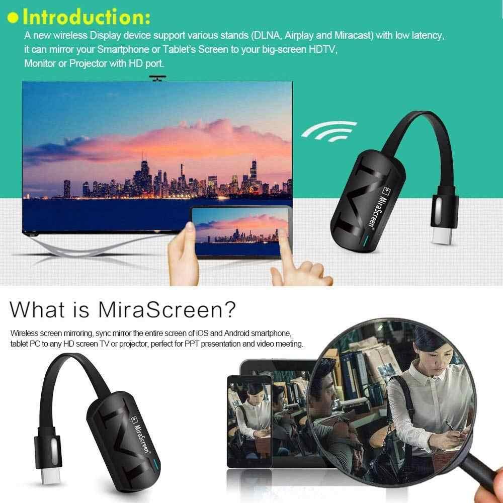 AMKLE Mirascreen G4 2.4 جرام 5 جرام 4 كيلو اللاسلكية HDMI دونغل جهاز استقبال للتليفزيون Miracast Airplay استقبال Wifi دونغل مرآة الشاشة غاسل يلقي