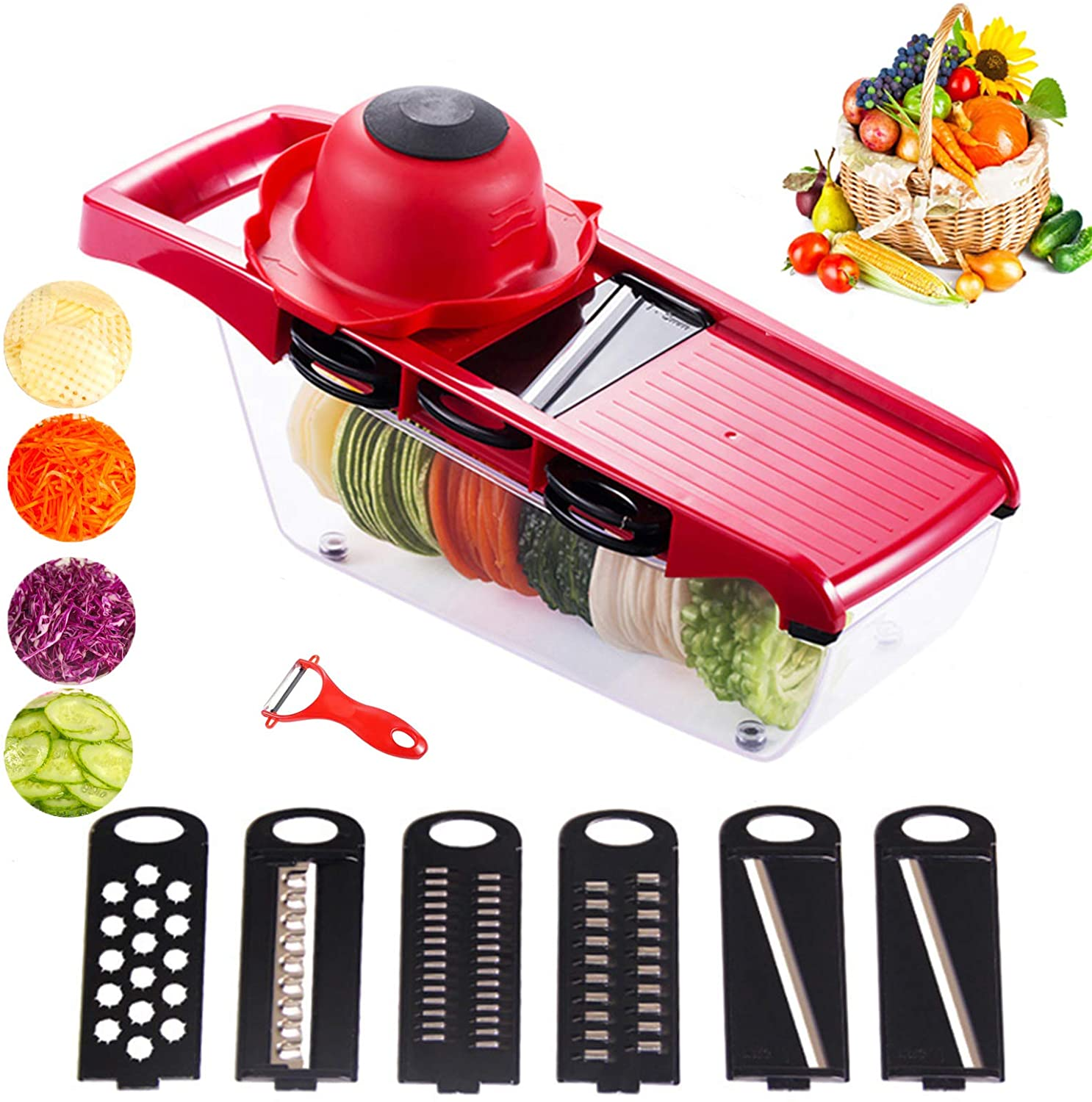 Multifunctionele Vegetable Cutter With Steel Blade Mandoline Slicer Potato Peeler Carrot Cheese Grater Kitchen Accessories Tools