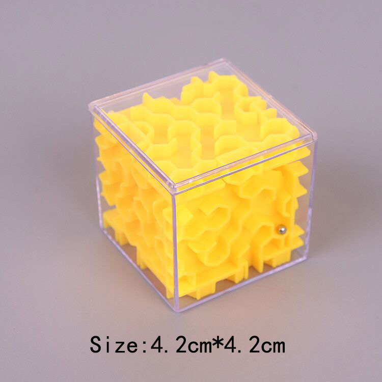 TOBEFU 3D Maze Magic Cube Transparent Six-sided Puzzle Speed Cube Rolling Ball Game Cubos Maze Toys for Children Educational 16