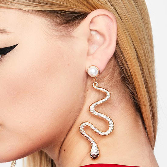 Fashion Exaggerated Punk Style Animal Snake Long Tassel Earrings Gold Snake Earrings Pendant Ladies Jewelry Gift.jpg 640x640 - Fashion Exaggerated Punk Style Animal Snake Long Tassel Earrings Gold Snake Earrings Pendant Ladies Jewelry Gift