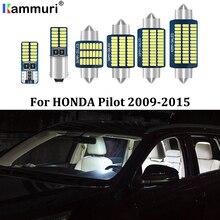 KAMMURI 19Pcs No Error Canbus White LED Car Interior Light Package Kit For Honda Pilot 2009 2010 2011 2012 2013 2014 2015