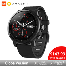 Huami Amazfit 2 Amazfit Stratos Pace 2 Smart Watch Men with GPS Xiaomi Watches PPG Heart Rate Monitor 5ATM Waterproof [english version]xiaomi huami amazfit pace sports smart watch bluetooth 4 0 wifi dual core 1 2ghz 512mb 4gb gps heart rate watch