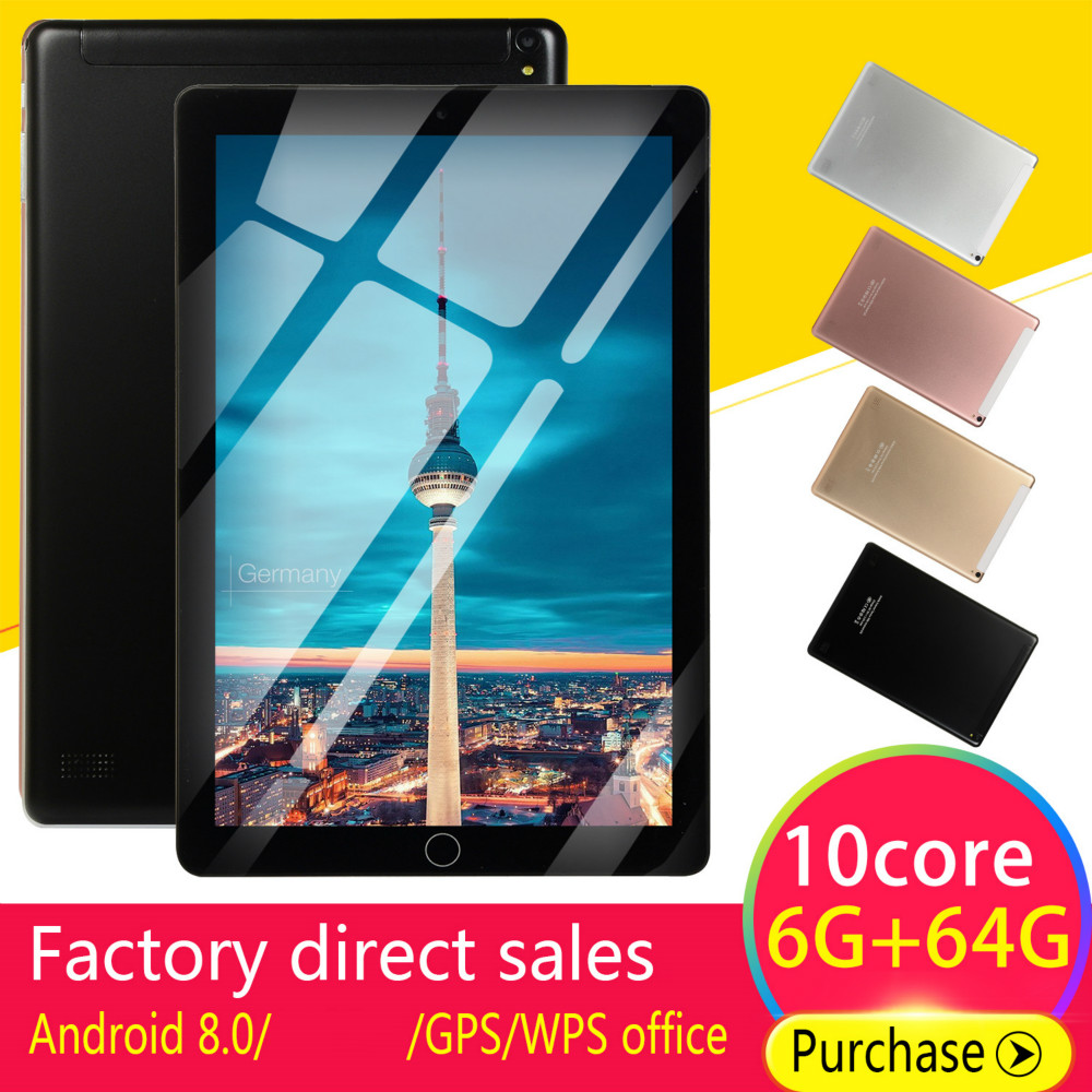 5000mAh 10 'Android Tablets8.0 Quad Core 4GB RAM Internal 64G Camera 5MP Tablet With a Sim Card PC WiFi GPS Bluetooth|Tablets| |  - title=