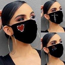 Masque de protection en diamant pour adultes, avec strass, brillant, Réutilisable, lavable