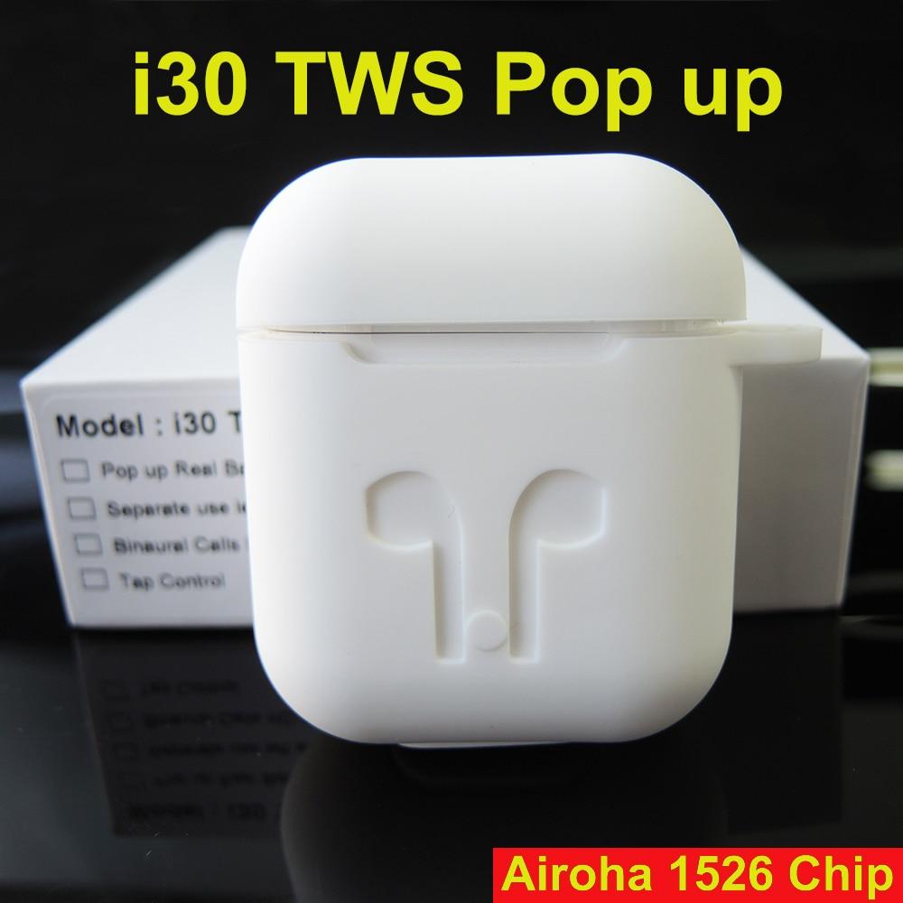I30 TWS Pop-up 1:1 taille sans fil écouteur 6D Super basse Bluetooth 5.0 écouteur i30tws PK w1 puce i20 tws i12 i10 i100 i200 tws