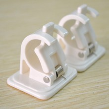 Hanging Rod End Clips Adhesive Wall Curtain Clip Hook Suction Box Packaging Two-pieces