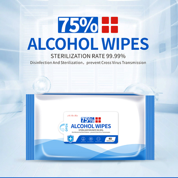 75% Disinfecting Alcohol Wipes Disposable Hand Wipes Skin Cleaning Bacteria Disinfection Wipes Alcohol Cotton 40Pcs/Bag