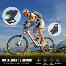 цена на Outdoor Riding Bicycle Front Light LED USB Rechargeable 4 Modes 500 Lumens Cycling Headlamp Bike Light Super Bright Night Light