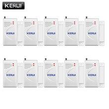 Kerui 3 ピース/ロット 433mhzワイヤレスオープニングセンサーホーム警報セキュリティ窓/ドアセンサーギャップ検出器のgsm pstn警報システム