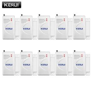 Image 1 - Kerui 3 pçs/lote 433mhz sem fio sensor de abertura alarme em casa janela segurança/sensor porta gap detector para gsm pstn sistemas alarme