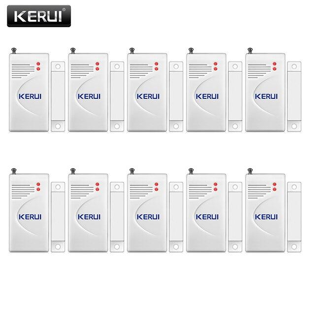 Kerui 3 pçs/lote 433mhz sem fio sensor de abertura alarme em casa janela segurança/sensor porta gap detector para gsm pstn sistemas alarme