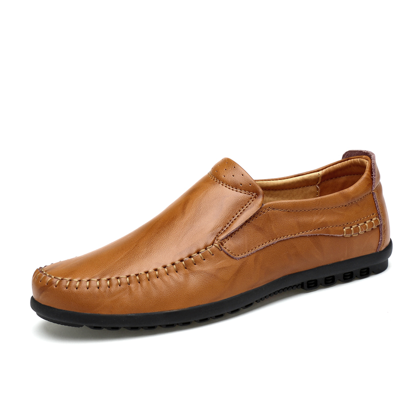 Men's Casual Shoes British Moccasins Genuine Leather Flats Zapatos Hombre Chaussures Loafers Footwear Men Winter&Sping %1711