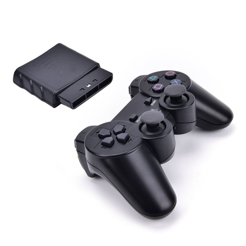 Wireless Gamepad Vibrator 2.4G Game Controller Joystick with Receiver for PS2 image