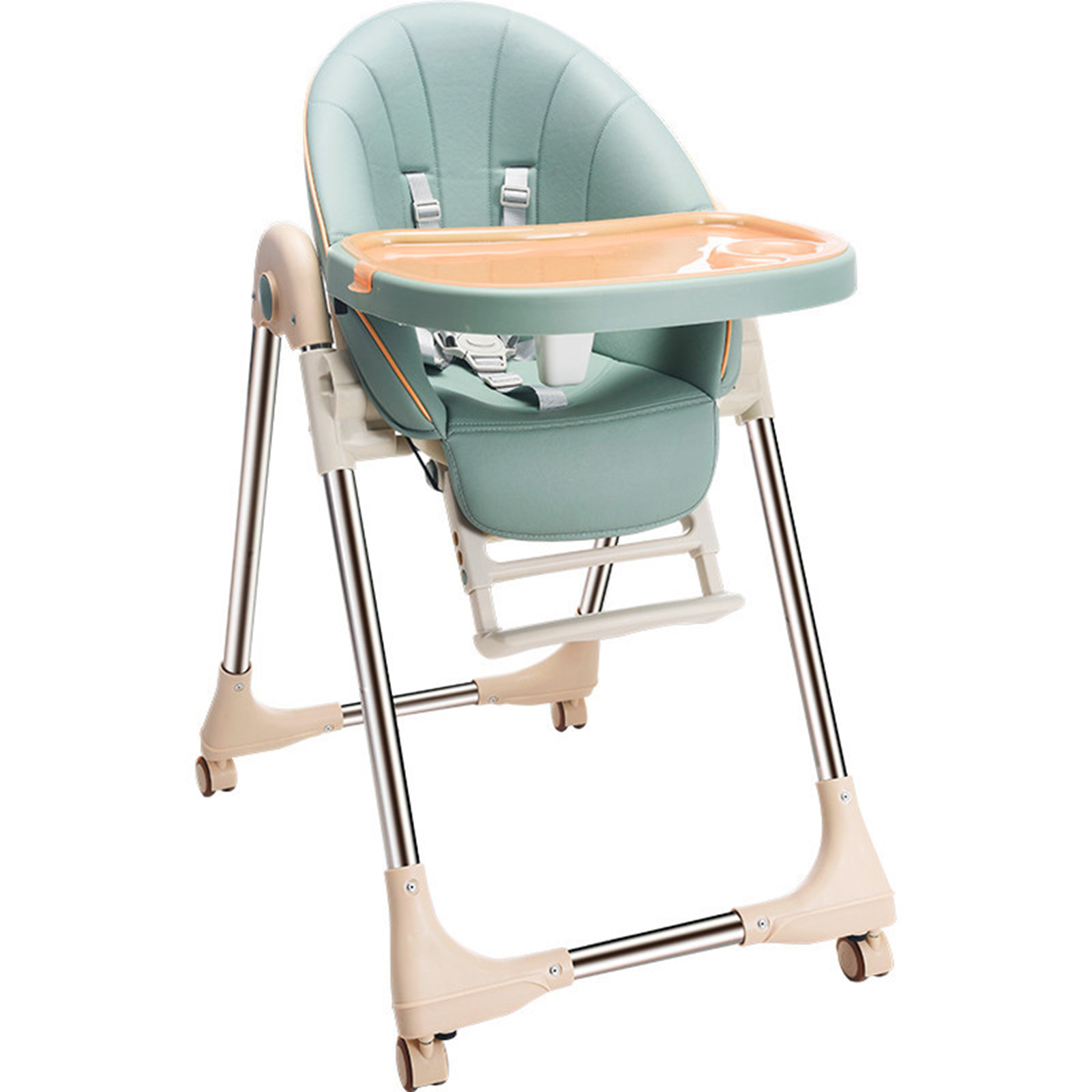 Toddler Baby Feeding Chair High Chair Dinning Chair With Adjustable Heigh For 0-6 Years Old Child