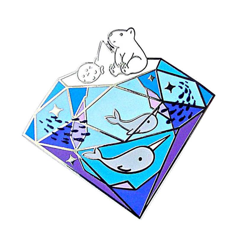 Berhenti perubahan iklim pin melindungi lingkungan laut kesadaran hadiah