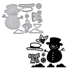 Naifumodo Snowman Metal Cutting Dies for Craft Scrapbooking Embossing Die Cut Stencil Christams Decoration