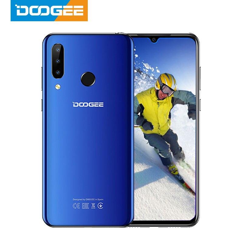 DOOGEE N20 мобильный телефон 64 ГБ 4 ГБ MT6763 Восьмиядерный отпечаток пальца 6,3 дюйма FHD + дисплей 16 МП Тройная задняя камера 4350 мАч мобильный телефон ...