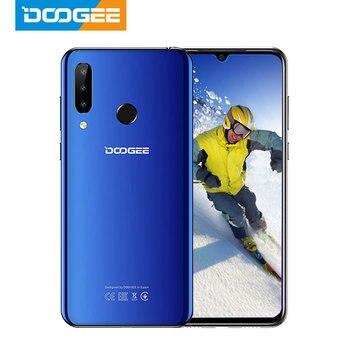 Купить DOOGEE N20 мобильный телефон 64 ГБ 4 ГБ MT6763 Восьмиядерный отпечаток пальца 6,3 дюйма FHD + дисплей 16 МП Тройная задняя камера 4350 мАч мобильный телефон ...
