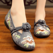 Designer embroidery female shoes summer loafers womens flats canvas fabric shoes 2020 retro flats цена 2017