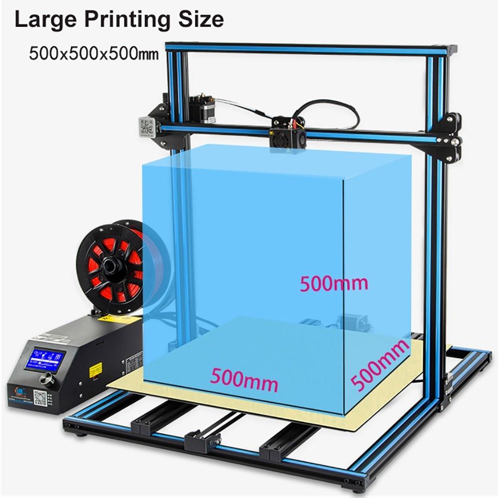 CR-10S5 3D Printer Large Printing Creality Size 500*500*500mm Semi DIY 3D Printer Kit Aluminum Heated Bed Free Filament Enclosed
