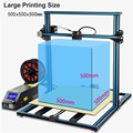 CR-10S5 3D Printer Large Printing Creality Size 500*500*500mm Semi DIY 3D Printer Kit Aluminum Heated bed Free Filament Enclosed