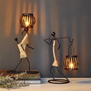 Image 5 - Candelabros decorativos de centro de mesa de Metal para velas, centros de mesa, candelero para jardín, centro de mesa de boda, decoración artística
