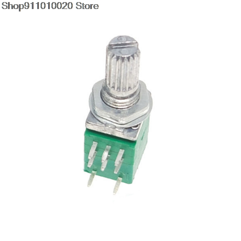 5pcs RV097NS 8pin B 10K 50K 100K RV097 RK097NS single linked potentiometer with switch audio shaft 15mm power amplifier sealing