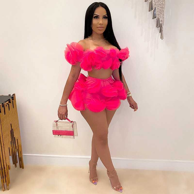 Plus Size 2 Piece Set Women 5xl Summer Birthday Outfits For Women Sexy Club Party Festival Clothing Crop Top Women Two Piece Set Women S Sets Aliexpress