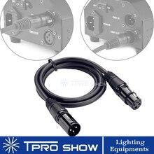 Перемещение головы DMX кабель 1 - 15 м 3-контактный XLR разъемы 512 передачи сигнала для беспроводной контроллер светодиодный par машина тумана DJ свет