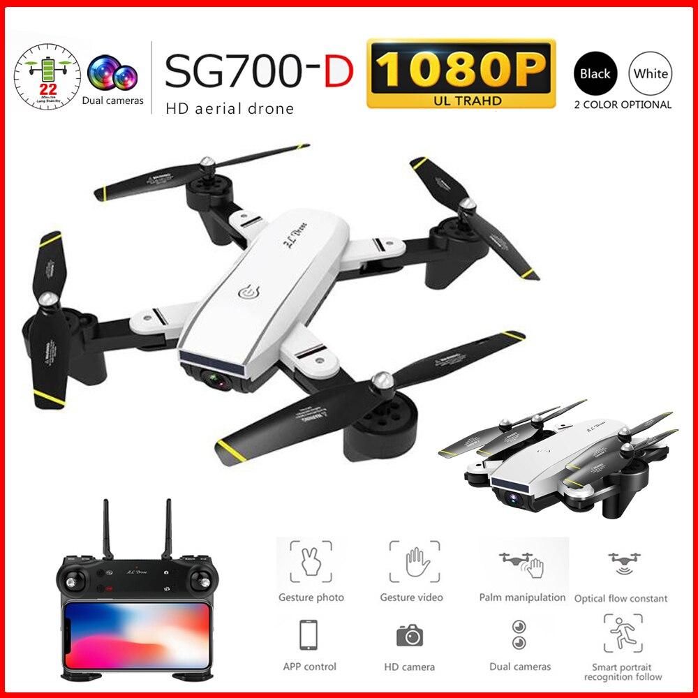 Drone SG700 D 2.4Ghz 4CH grand angle WiFi 1080P double caméra à flux optique hélicoptère RC quadrirotor Drone avec caméra HD-in Drones à caméra from Electronique    1