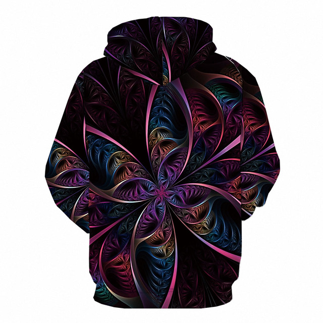 Abstract Anime Galaxy 3D Printed Colorful Hoodie  2