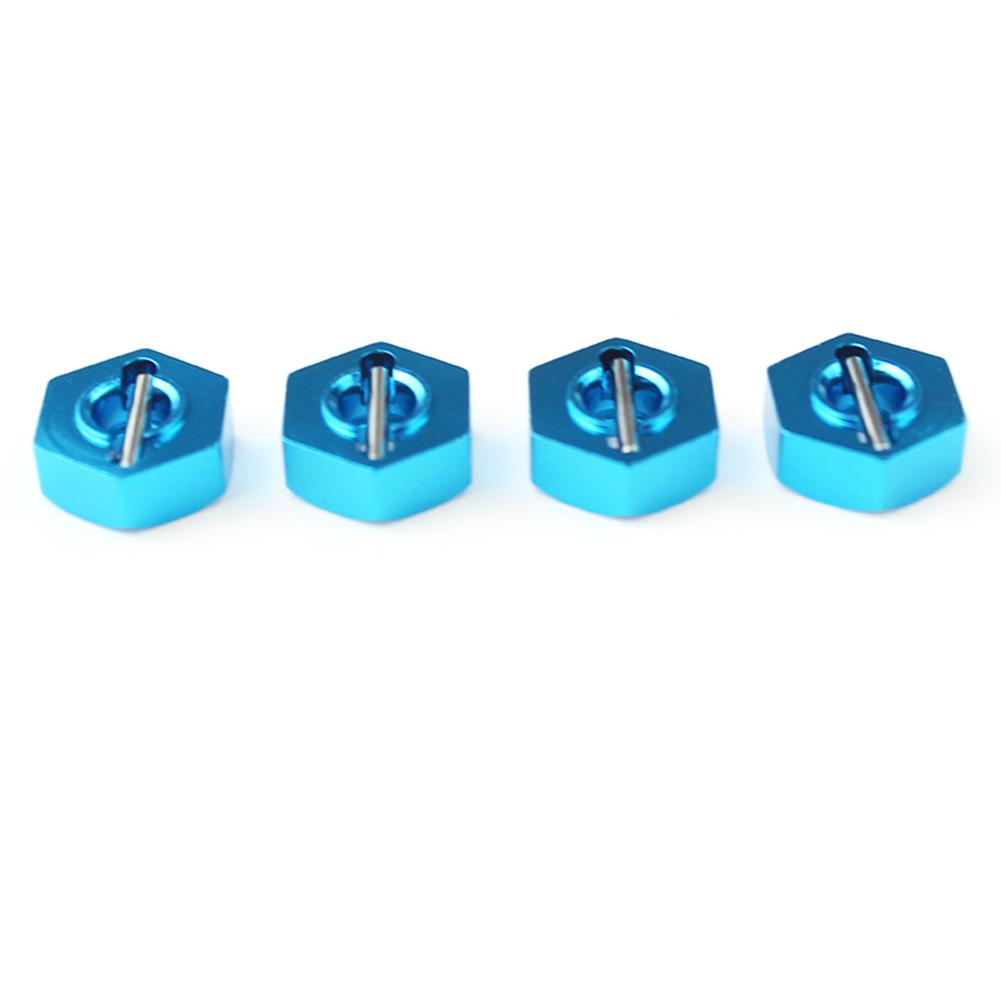 4PCS RC Car <font><b>Wheel</b></font> Hex Hub Drive Convert Adapter <font><b>Metal</b></font> Upgrade Parts Accessories For <font><b>WLtoys</b></font> <font><b>12428</b></font> 12423 1/12 RC Vehicles image