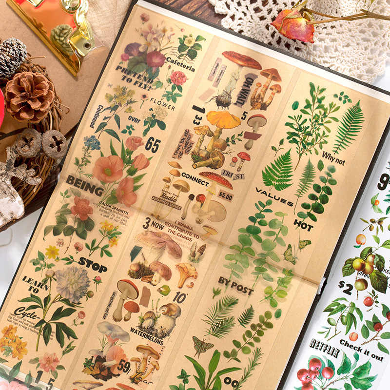 60*350Mm De Collectie Van Natuur Huisdier Transparante Stickers Tape Periode Scrapbooking Diy Dagboek Briefpapier Stickers