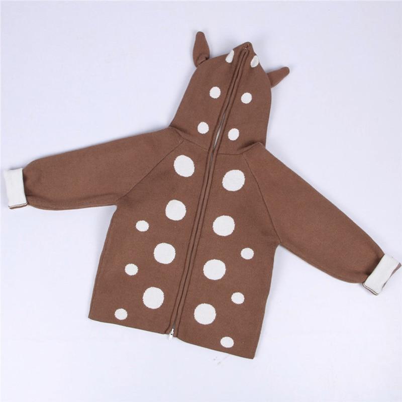 2021 New Kids Girls Knitted Cartoon Sweater Winter Boys Sweater 3D Rabbit Bunny Pullover Baby Girls Winter Clothing 4